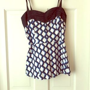 Adorable two-tome blue and white top.